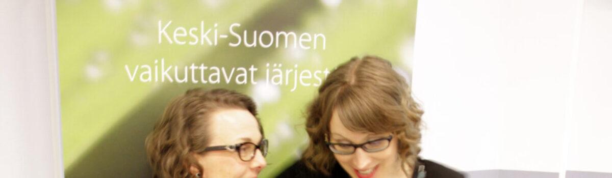 Keski-Suomen vaikuttavat järjestöt -hankkeen jatko rakennetaan tehdyn työn ja tulevaisuuden tarpeiden pohjalle