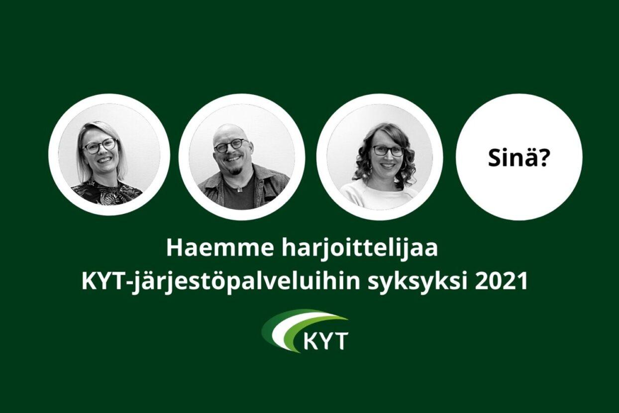 Hae järjestötyön harjoittelijaksi KYT-järjestöpalveluihin syksyksi 2021